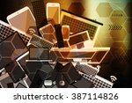 abstract background  concept of ... | Shutterstock . vector #387114826