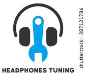 headphones tuning vector icon... | Shutterstock .eps vector #387121786