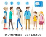 taking care of yourself in... | Shutterstock .eps vector #387126508