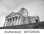 helsinki cathedral in senate... | Shutterstock . vector #387130336