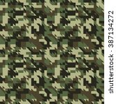 military camouflage seamless... | Shutterstock .eps vector #387134272