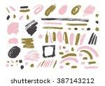 grunge brush stroke . vector... | Shutterstock .eps vector #387143212