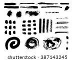 grunge brush stroke . vector... | Shutterstock .eps vector #387143245