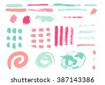 grunge brush stroke . vector... | Shutterstock .eps vector #387143386