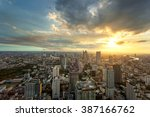 sunset from the top of building   Shutterstock . vector #387166762