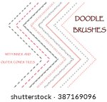 set of hand drawn doodle  ink... | Shutterstock .eps vector #387169096
