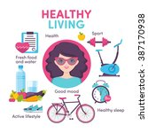 icons healthy living  sport ... | Shutterstock .eps vector #387170938