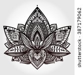 vector ornamental lotus flower  ... | Shutterstock .eps vector #387179062
