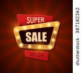 sale background in vintage... | Shutterstock .eps vector #387182362