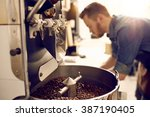 dark and aromatic coffee beans... | Shutterstock . vector #387190405