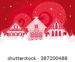 beautiful creative russian... | Shutterstock .eps vector #387200488