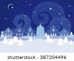 silhouettes beautiful creative... | Shutterstock .eps vector #387204496