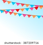 party background with flags... | Shutterstock .eps vector #387209716