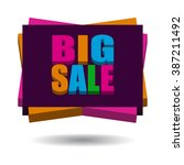 isometric 3d word big sale... | Shutterstock .eps vector #387211492