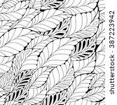 stock vector seamless doodle... | Shutterstock .eps vector #387223942