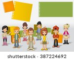 template for advertising... | Shutterstock .eps vector #387224692