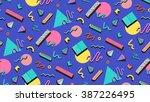 bright vector template 80s.... | Shutterstock .eps vector #387226495