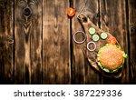 hamburger with tomatoes  onions ...