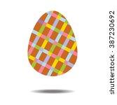 easter egg icon on the white... | Shutterstock .eps vector #387230692