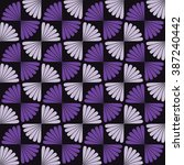 pattern with butterfly tie.... | Shutterstock .eps vector #387240442