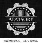 advisory chalk emblem | Shutterstock .eps vector #387242506