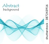 abstract background with wave... | Shutterstock .eps vector #387243916