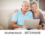 portrait of senior couple...   Shutterstock . vector #387244648
