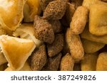 mixed brazilian snack.  | Shutterstock . vector #387249826