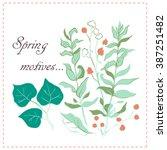 spring motives | Shutterstock .eps vector #387251482