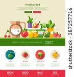 fruits and vegetables  healthy... | Shutterstock .eps vector #387257716
