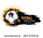 hand drawn vector grunge banner ... | Shutterstock .eps vector #387259426