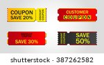 discount coupon  ticket  banner