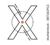 letter x logo. alphabet... | Shutterstock .eps vector #387262912