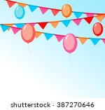 party background with balloons... | Shutterstock .eps vector #387270646