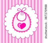 baby bib for girl in vector eps | Shutterstock .eps vector #387270988