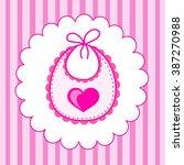 baby bib for girl in vector eps | Shutterstock .eps vector #387270988