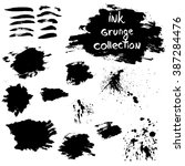 ink grunge collection  vector | Shutterstock .eps vector #387284476