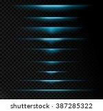 transparent light effects ... | Shutterstock .eps vector #387285322