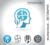 psychology icon set  collection ... | Shutterstock .eps vector #387286945