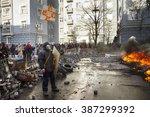 ukraine  kiev  18 february 2014 ... | Shutterstock . vector #387299392