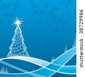 abstract christmas tree | Shutterstock .eps vector #38729986