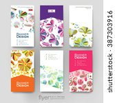 floral ornament vector brochure ... | Shutterstock .eps vector #387303916