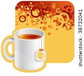 vector tea background for your...   Shutterstock .eps vector #38732041