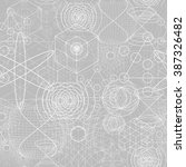 sacred geometry symbols and... | Shutterstock .eps vector #387326482