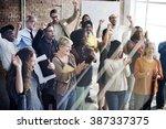 corporate communication... | Shutterstock . vector #387337375