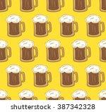 glass of beer pattern | Shutterstock . vector #387342328