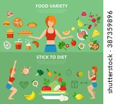 flat slim healthy lifestyle... | Shutterstock .eps vector #387359896