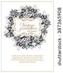 vintage delicate invitation... | Shutterstock .eps vector #387365908