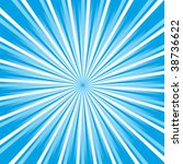 sunburst vector | Shutterstock .eps vector #38736622