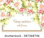 romantic invitation. wedding ... | Shutterstock .eps vector #387368746